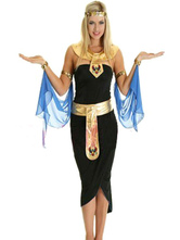 Anime Costumes AF-S2-629399 Halloween Costume Sexy Greek Women's Black Slit High Low Outfit