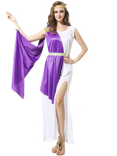 Anime Costumes AF-S2-629381 Purple Greek Empress Costume Outfits Halloween Costume For Women