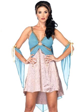 Anime Costumes AF-S2-629367 Greek Goddess Costume Outfits Halloween Blue Camis Dress Set For Women