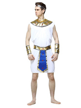 Anime Costumes AF-S2-629425 Halloween Egypt King Sexy Costume Men's White Dress Set Outfits