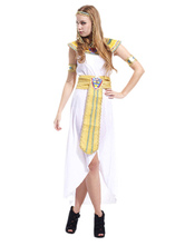 Anime Costumes AF-S2-629369 Halloween Greek Goddess Costume Outfits White Dress Set For Women