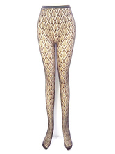 Sexy Black Pantyhose Women's Printed Fishnet Tight Stockings