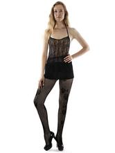 Calzamaglia nera Sexy stampato calze collant donna