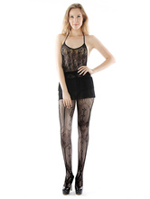 Stampato Sexy Fishnet collant nero collant donne