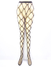 Sexy Black Tights Sheer Cut Out Women's Fishnet Pantyhose Stockings