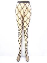 Sexy schwarze Strumpfhose schiere ausgeschnittene Damen Strumpfhosen Netzstrümpfe