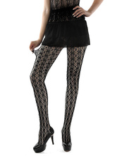 Sexy Black Tights Printed Women's Fishnet Pantyhose Stockings