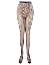 Black Pantyhose Stockings Women's Printed Fishnet Sexy Tights