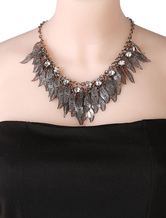 Leaf Statement Necklace Silver Pendants Necklace For Women