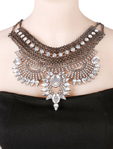 Silver Statement Necklace Women's Adjustable Layered Necklace