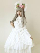 Lágrimas blancas Lolita Jumper falda dulce Lolita Vestido JSK sirenas