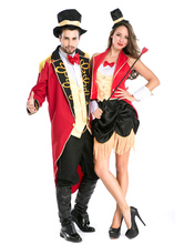 Anime Costumes AF-S2-630695 Couples Costumes 2017 Red Sexy Magician Costumes