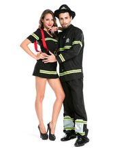 Anime Costumes AF-S2-630693 Couples Costumes 2017 Fireman Costume Halloween Sexy Firefighter Costume Outfits