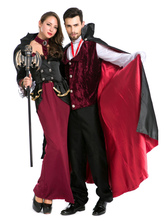 Anime Costumes AF-S2-630707 Vampire Couple Halloween Costumes Black Halloween Costumes