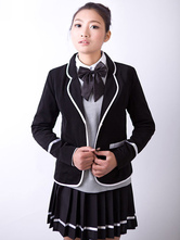 Anime Costumes AF-S2-630719 Anime School Girl Uniform Black British School Uniform Suit