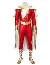 Anime Costumes AF-S2-634357 Captain Marvel Shazam Halloween Cosplay Costume DC Comics Cosplay