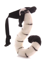 Anime Costumes AF-S2-637247 Kigurumi Animal Tail Women's White Terry Pajama Accessories