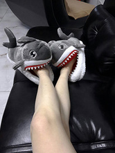 Anime Costumes AF-S2-637267 Kigurumi Pajama Accessories Grey Shark Terry Adults Slipper Shoes