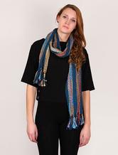 Crochet Knit Scarf Long Women's Bohemian Scarf