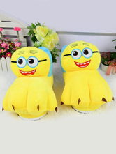 Anime Costumes AF-S2-637255 Minion Kigurumi Pajama Shoes Yellow Terry Anime Onesie Warmer Slippers For Adults