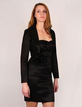 Black Shrug Jacket Women's Long Sleeves Blazer Party Mini Jacket