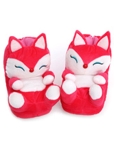 Anime Costumes AF-S2-637261 Fox Pajama Shoes Onesie Sleeper Red Terry Animal Warmer Footwear Slippers For Adults