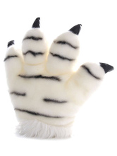 Anime Costumes AF-S2-637239 Kigurumi Pajama White Claw Animal Onesie Terry Warm Plush Gloves Costume For Women