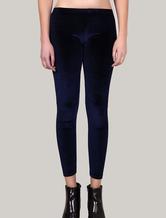 Blue Velvet Legging Women's Elastic Skinny Pants