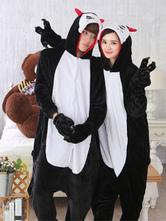 Anime Costumes AF-S2-638229 Kigurumi Pajama Demon Onsie Flannel Black Animal Couple Costume Outfits