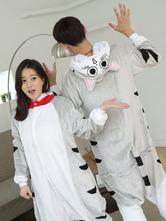 Anime Costumes AF-S2-638245 Kigurumi Pajama Cat Onesie Flannel Animal Couple Costume