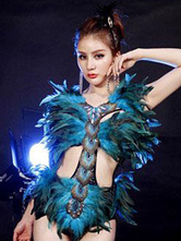 Anime Costumes AF-S2-638337 Halloween Sexy Costume Women's Peacock Feather Green Short Jumpsuit