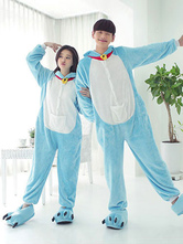 Anime Costumes AF-S2-638227 Kigurumi Pajama Doraemon Onesie Flannel Blue Animal Couple Costume Outfits In 2 Piece