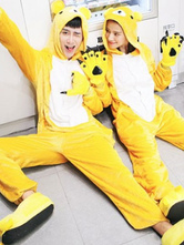 Anime Costumes AF-S2-638231 Kigurumi Pajama Bear Onsie Flannel Yellow Animal Couple Costume Outfits