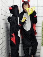 Anime Costumes AF-S2-638241 Kigurumi Pajama Monkey Onesie Flannel Black Animal Couple Costume