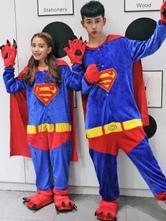 Anime Costumes AF-S2-638239 Kigurumi Pajama Superman Onesie Flannel Couple Costume