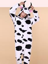 Anime Costumes AF-S2-638259 Kigurumi Pajama Cow Onesie Flannel Animal Couple Costume