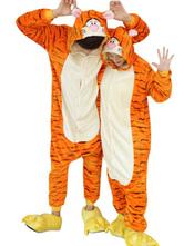 Anime Costumes AF-S2-638249 Kigurumi Pajama Tiger Onesie Flannel Animal Couple Costume