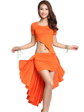 Anime Costumes AF-S2-638811 Belly Dance Costume Outfit Women's Orange High Low Skirt With Irregular Bottom Top