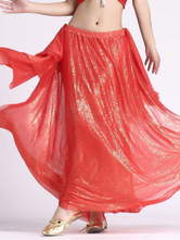 Anime Costumes AF-S2-638785 Belly Dance Costume Women's Red Split Bollywood Dance Maxi Skirt