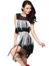 Anime Costumes AF-S2-638813 Latin Dancing Dress Costume Women's Ombre Glitter Ballroom Dance Dress With Tassels