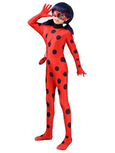 Anime Costumes AF-S2-641059 Halloween Ladybug Lycra Zentai Jumpsuit