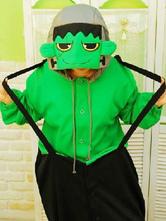 Anime Costumes AF-S2-642049 Kigurumi Pajamas The Hulk Green Giant Onesie For Adult Flannel Anime Animal Cosplay Costume