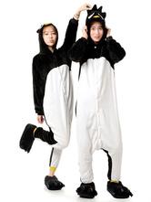 Anime Costumes AF-S2-641987 Kigurumi Pajama Penguin Onesie Adults White & Black Flannel Animal Costume