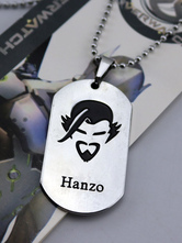 Anime Costumes AF-S2-642605 Overwatch Ow Hanzo Metal Tag Blizzard Video Game Metal Tag