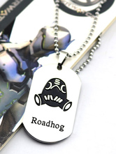 Anime Costumes AF-S2-642615 Overwatch Ow Roadhog Metal Tag Blizzard Video Game Metal Tag
