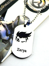 Anime Costumes AF-S2-642613 Overwatch Ow Zarya Metal Tag Blizzard Video Game Metal Tag
