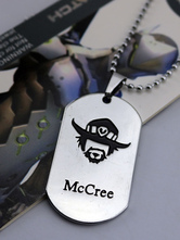Anime Costumes AF-S2-642611 Overwatch Ow Mccree Metal Tag Blizzard Video Game Metal Tag