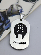 Anime Costumes AF-S2-642623 Overwatch Ow Zenyatta Metal Tag Blizzard Video Game Metal Tag