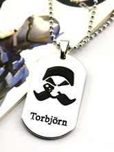 Anime Costumes AF-S2-642617 Overwatch Ow Torbjorn Metal Tag Blizzard Video Game Metal Tag
