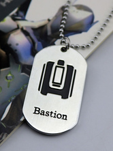 Anime Costumes AF-S2-642619 Overwatch Ow Bastion Metal Tag Blizzard Video Game Metal Tag